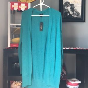 New long teal cardigan by Worthington